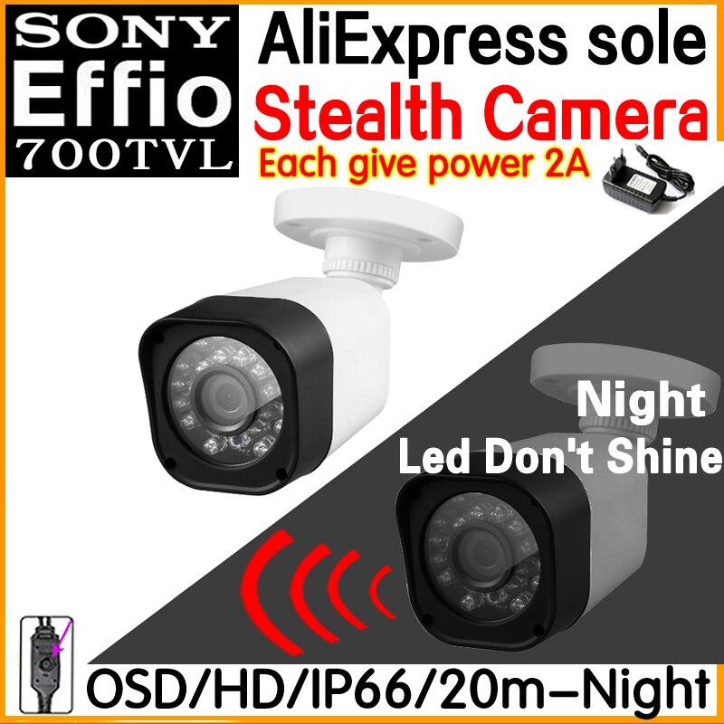 New Technology Night vision Stealth camera 1/3Sony Effio ccd 700tvl Hd cctv Security Surveillance cam OSD meun Waterproof IP66 sat integral s 1221 hd stealth купить есть в наличии
