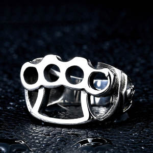 Skull-Ring Jewelry Finger-Rings Knuckles Biker Cool Brass Punk Gothic Titanium Steel