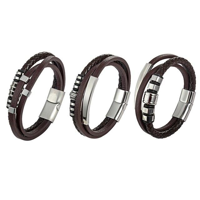 Фото женский многослойный кожаный браслет популярные в европе браслеты цена
