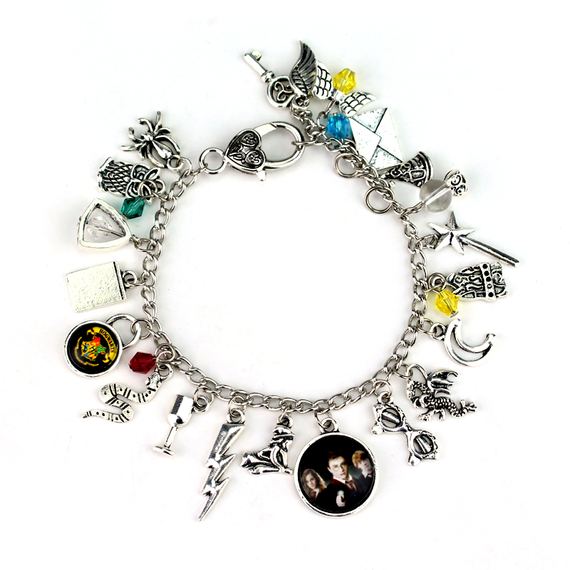 Magic Hat Series accessories Bracelet Silver lightning flash movie Angel wings Bracelet