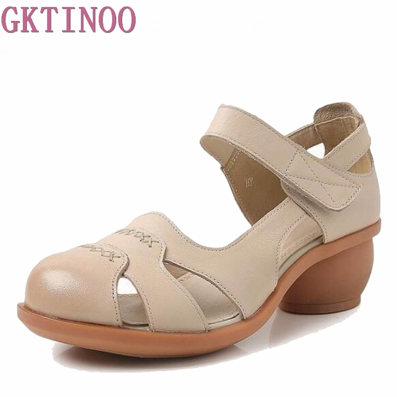 2018 summer sandals female handmade genuine leather women casual comfortable woman shoes sandals women summer shoes HY912 beyarne summer sandals female handmade genuine leather women casual comfortable woman shoes sandals women summer shoes