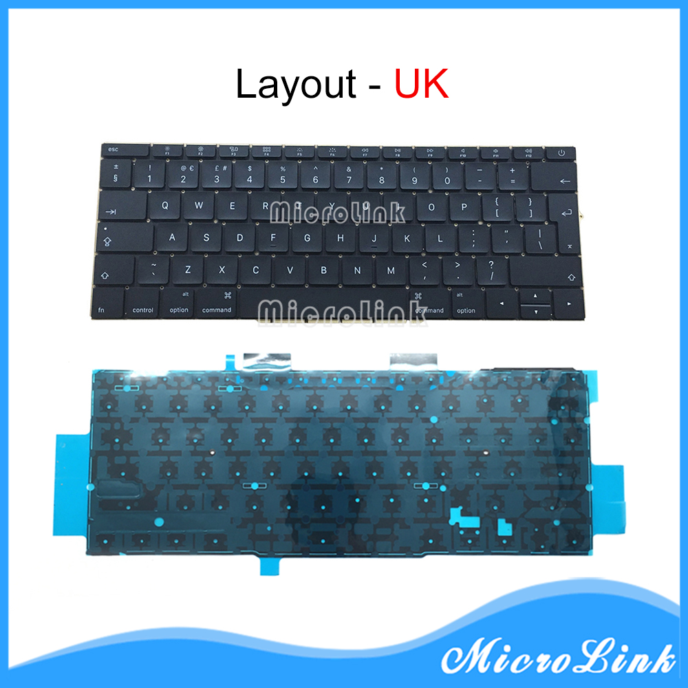 New 13 A1708 UK Layout Keyboards For Macbook Retina Pro 13 Inch Keyboard 2016 Year