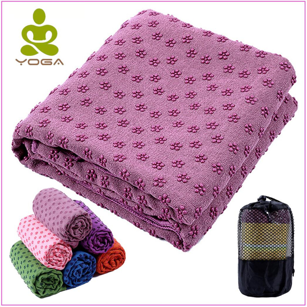 183cm*61cm 72''x24'' Non Slip Yoga Mat Cover Towel Blanket with Free Bag Sport Fitness Exercise Pilates Workout Anti Skid