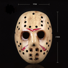 High-Grade Jason Scary Resin Mask Voorhees Freddy Hockey Masquerade Halloween Party Cosplay Full Face Masks For Adult Party Prop 2pcs lot halloween masquerade mask black friday no 13 jason voorhees freddy hockey festival party masks