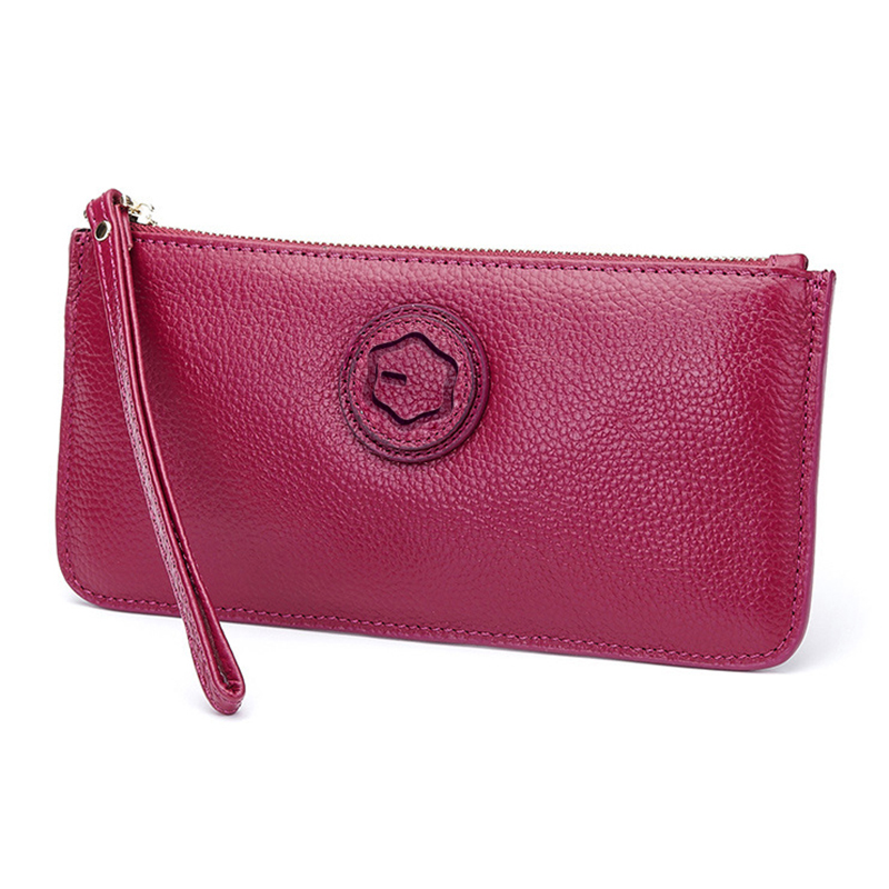 iMUCA for Xiaomi redmi 4X Case redmi note 4x Genuine Cow Leather Women Wallet Zipper Long Coin Purse Soft case for xiaomi mi a1
