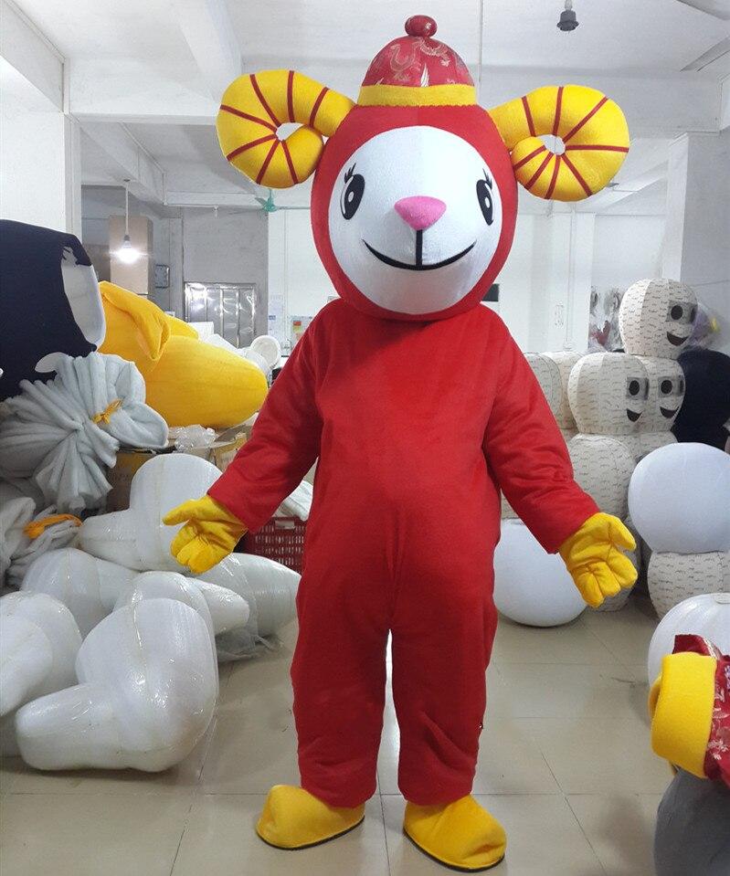 Le mouton mascotte Costume chinois nouvel an agneau chèvre mascotte Costumes fantaisie robe tenue Halloween Cosplay Costume - 3