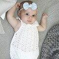 Bebé Ropa de las muchachas nuevo estilo blanco Mamelucos Del Bebé Recién Nacido de Encaje Hueco Chicas Ropa de Bebé Mono Roupas bebes Desgaste