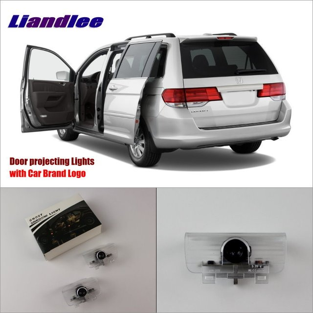 Liandlee Car Logo Light Door Welcome Lights Ghost Shadow Projector Lamp For Honda Odyssey 2002 2017 Led Courtesy Doors Lamps