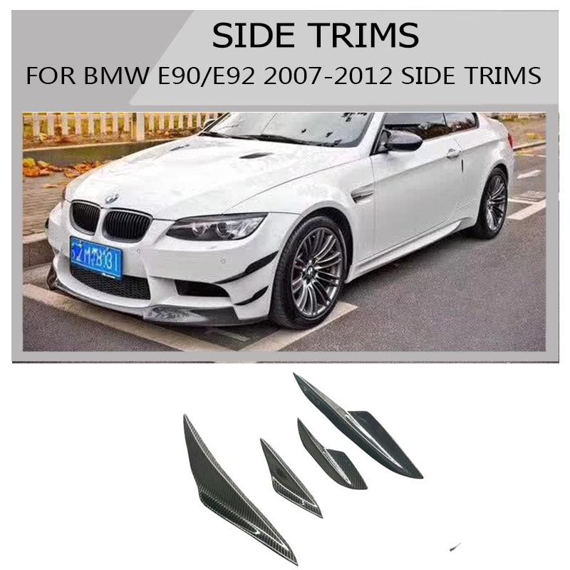 M3 Carbon Fiber free shipping  Canard Front lip spoiler front for bmw E90 E92 E93 M3 splitter side spoiler Design 2007-2012