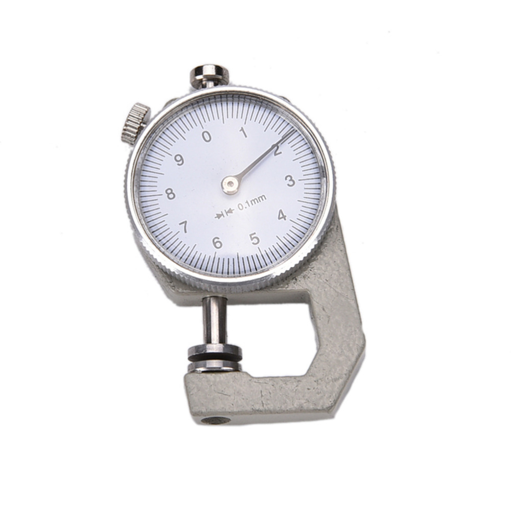 1PC 0-10mm New Dial Thickness Gauge 10mm Leather Paper Thickness Meter Tester For Leather Flim Paper