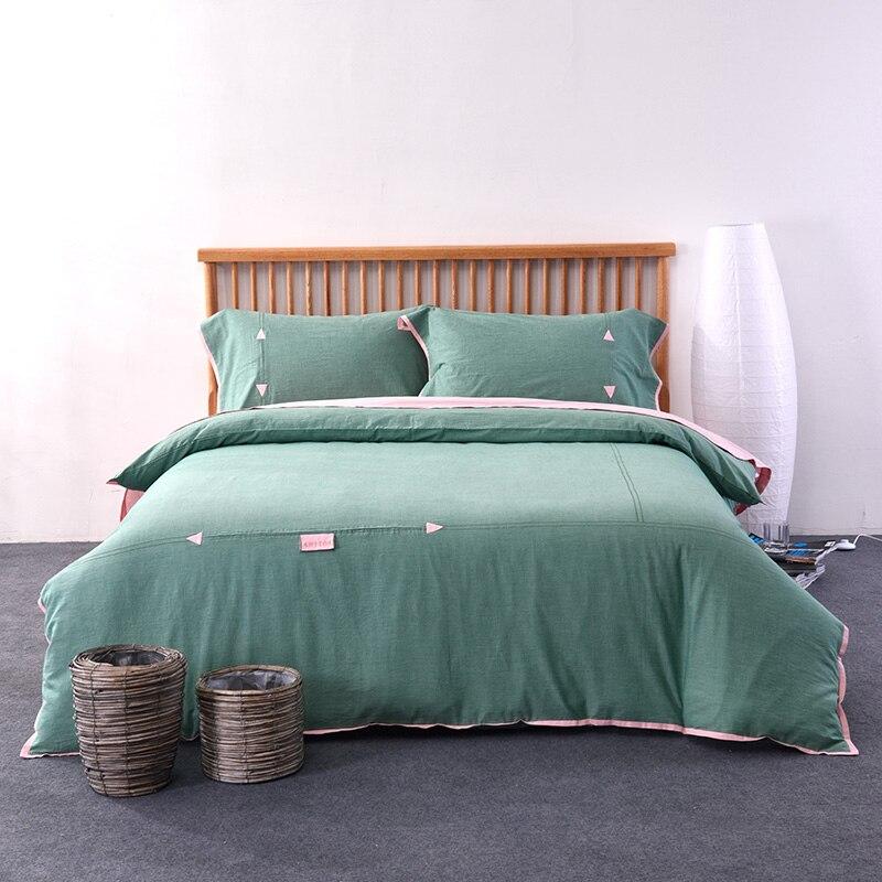 Набор пододеяльников из хлопка с высокой плотностью, простой комплект постельного белья, Комплект постельного белья королевского размера,