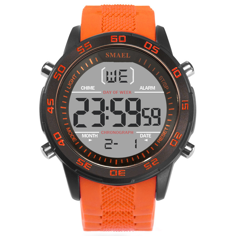 Waterproof Watch Resin-Strap-Life Digital Outdoor Sports Men's Stylish And Dial LD Simple