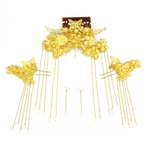 Image 5 - Nieuwe stijl Chinese bruiden hoofddeksels Phoenix kroon trouwjurk hoofd jurk accessoires oude kostuum Han accessoires