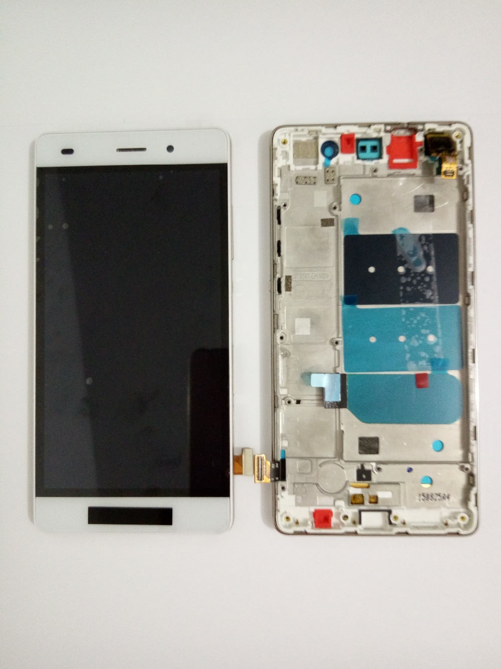 LCD screen display+touch panel digitizer with frame For Huawei Ascend P8 lite white /black free shipping original lcd for huawei p7 ascend lcd display touch screen assembly 5 inch lcd replacement without frame free tools
