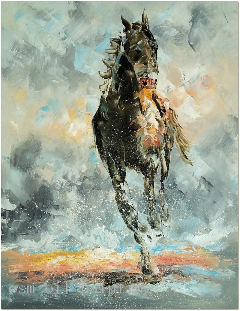 Abstract Horse Oil Painting On Canvas