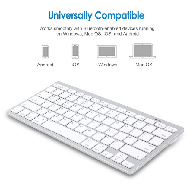 Russian French Arabic Spanish Wireless Keyboard Bluetooth 3.0 for iPad Tablet Laptop Support iOS Windows Android System 3