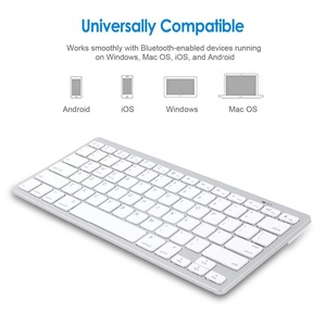 Image 4 - Russian French Arabic Spanish Wireless Keyboard Bluetooth 3.0 Keyboard for iPad Tablet Laptop Support iOS Windows Android System