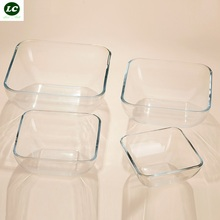 free shipping glass bowl Microwave oven thick tempered glass plate salad plate fruit plate fruit bowl dish salad bowl single