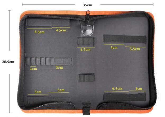 MLITDIS Keltaiset reunat -työkalupussi Sähköasentaja - Kodin varastointi ja organisaatio - Valokuva 2