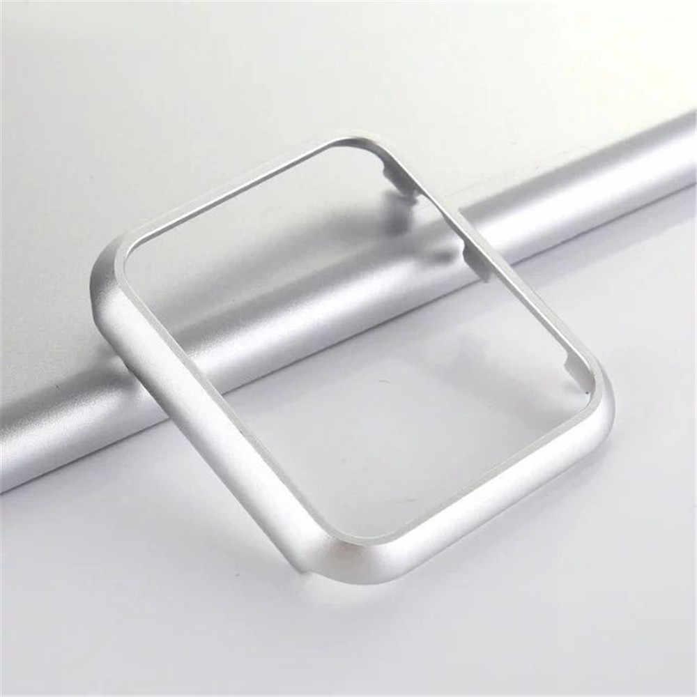 יוקרה מתכת כיסוי עבור אפל שעון סדרת 4 5 מקרה 40mm 44mm אלומיניום פגוש עבור 42mm 38mm iWatch 1 2 3 מקרה מגן
