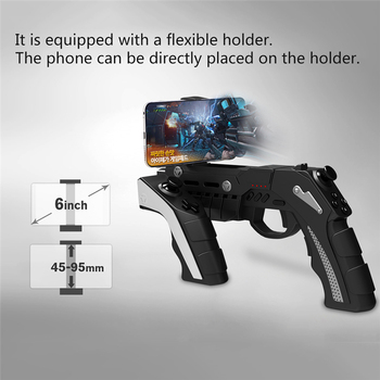 Trigger Gun Joystick For Android iPhone Cell Phone Mobile iPad PC Computer Controller Gamepad Game Pad Gaming Control Cellphone 2