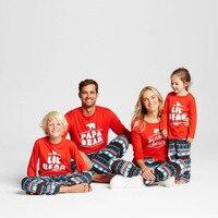 Family Christmas Clothes Pajama Sets Couple Men Women Nightwear Papa Mama Bear Pjs Matching Boy Girls