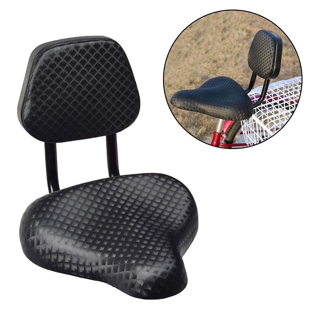 NEW Cycling Wide Comfort Faux Leather Bike Bicycle Saddle Seat with Backrest Support Bicycle Saddle     - title=