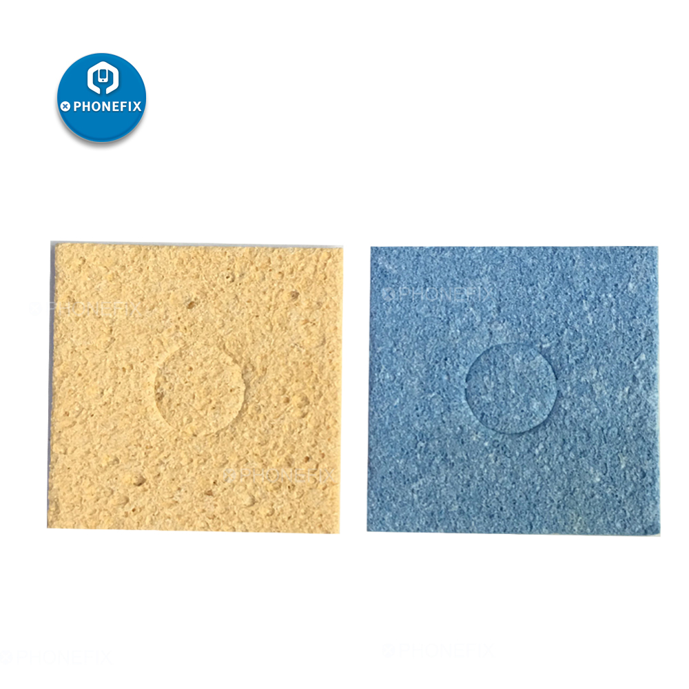 PHONEFIX Universal Yellow Blue Cleaning Sponge Soldering Iron Tip Welding Cleaning Pads For Cleaning PCB Components