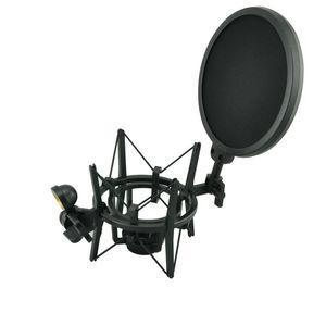 Image 1 - Sh 100 venda quente microfone microfone profissional montagem de choque com tela de filtro protetor pop para microfone de rosca longa