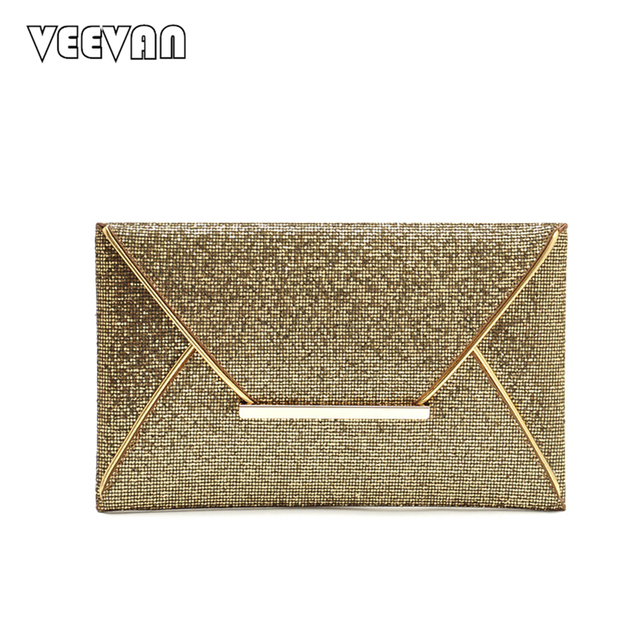 2017 New Brands Diamond Women Wallets Gold Clutch Bags Ladies Envelope Evening Bags for Party Day Clutches Purse Female Handbags