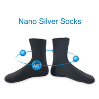 2017 Brand New 5 Pairs Nano Silver Cotton Socks Fashion Casual Anti Bacterial Deodorant Summer Black