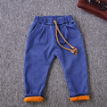 High quality Children Pants Thick Winter Warm Cotton Pants Baby Boys Jeans winter Kids Pants retail