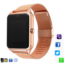 Z60 Смарт-часы GT08 плюс металлические часы со слотом для Sim карты нажмите сообщение Bluetooth Подключение Android IOS Телефон Смарт-часы PK S8