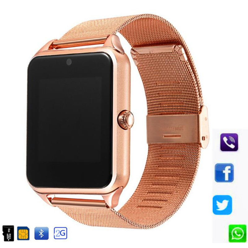 Z60 Smart Watch GT08 Plus Metal Clock With Sim Card Slot Push Message Bluetooth