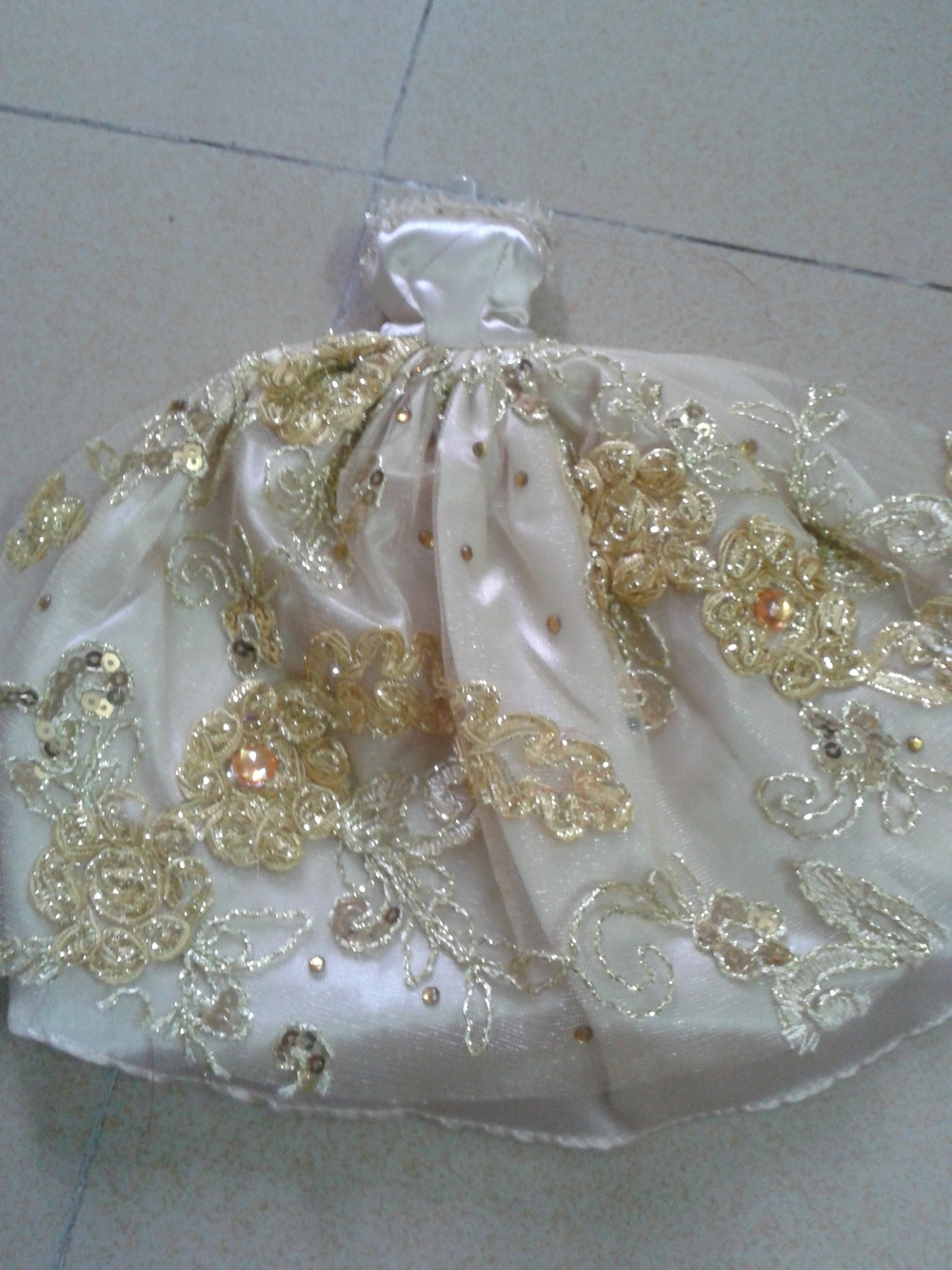 Free shipping Handmade Wedding Dress Clothes For Barbie doll wear ...