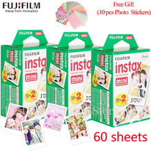 Original Fujifilm instax mini film 60 sheets white Edge 3 Inch wide film for Instant Camera mini 8 7s 25 50s 90 Photo Paper+Gift