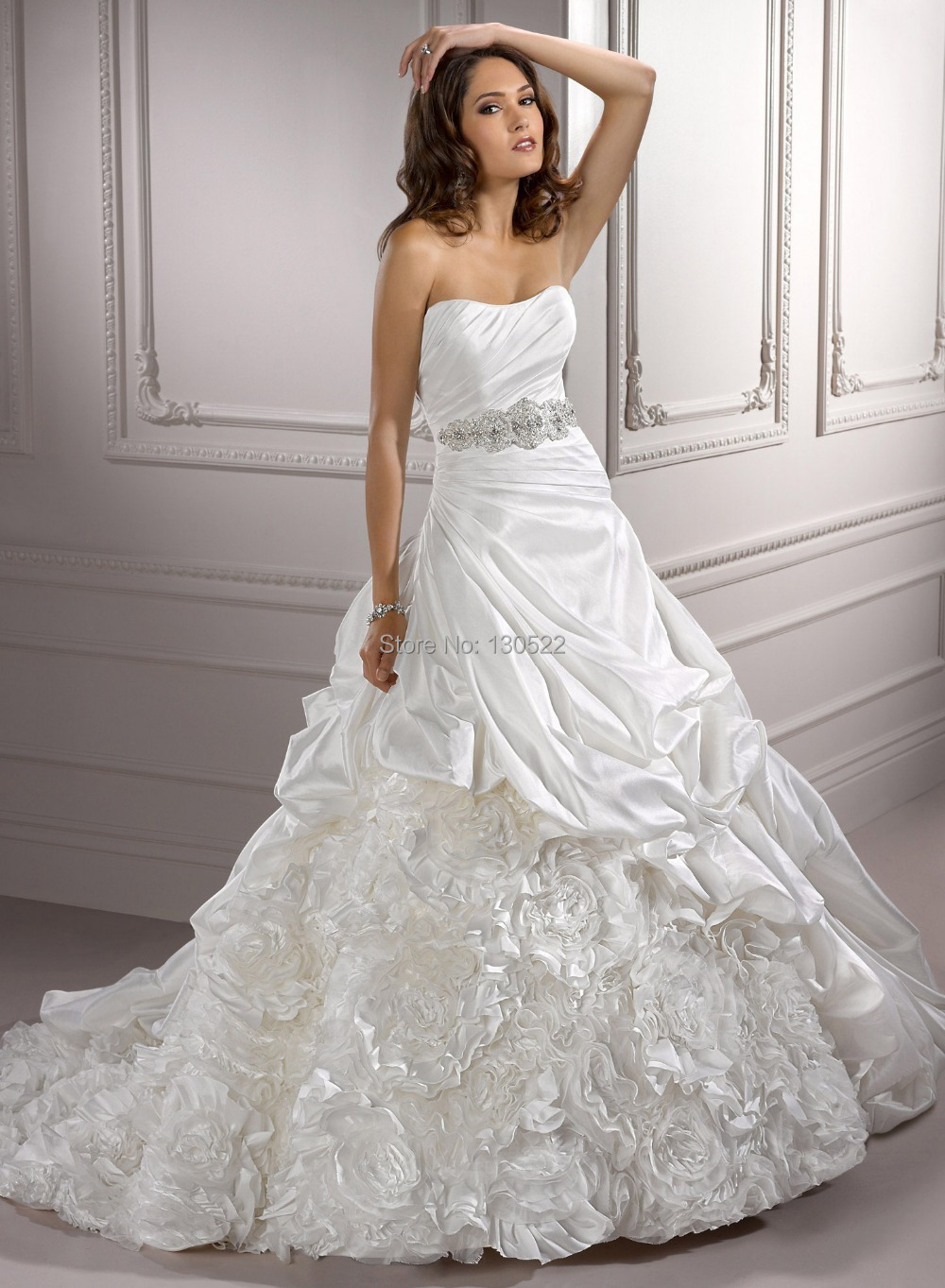 Free Shipping We 0847 Strapless Italian Wedding Dress With Black Belt Vintage Traditional In Dresses From Weddings