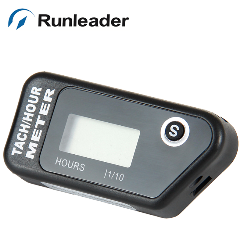 Digital inductive Tachometer tach RPM Hour Meter for gas