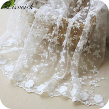 Factory direct sales 1yard small flower embroidery lace fabric,clothing skirt sewing accessories,Curtains home decoration gauze