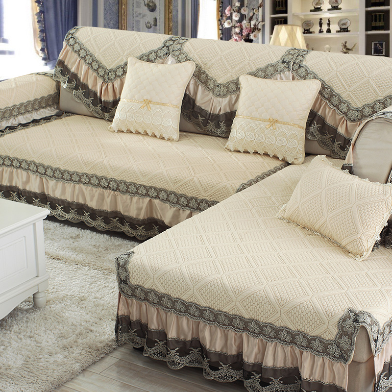 Comfortable Living Room Dimensions: High Grade Comfortable European Sofa Mat Fabric Cotton Non