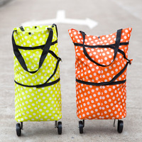 Folding Shopping Bag Collapsible Tote Bag Reusable Trolley Clip To Cart Large Capacity Shopping Bag Ms