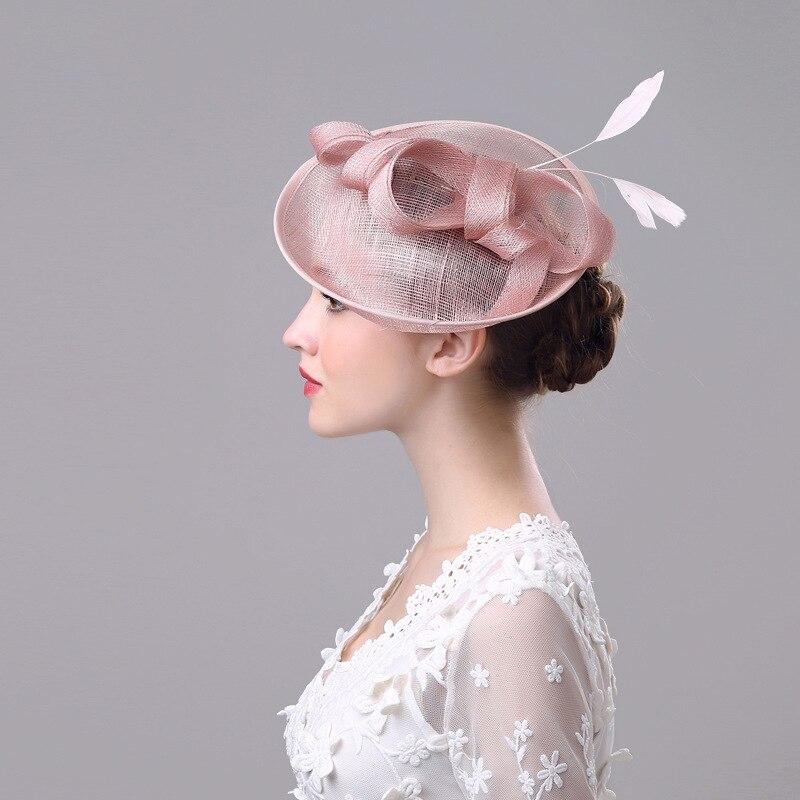 2018 New Wedding Bridal Hats Vintage Handmade Elegant Romantic Headdress Marrige Wedding Accessories with Bow