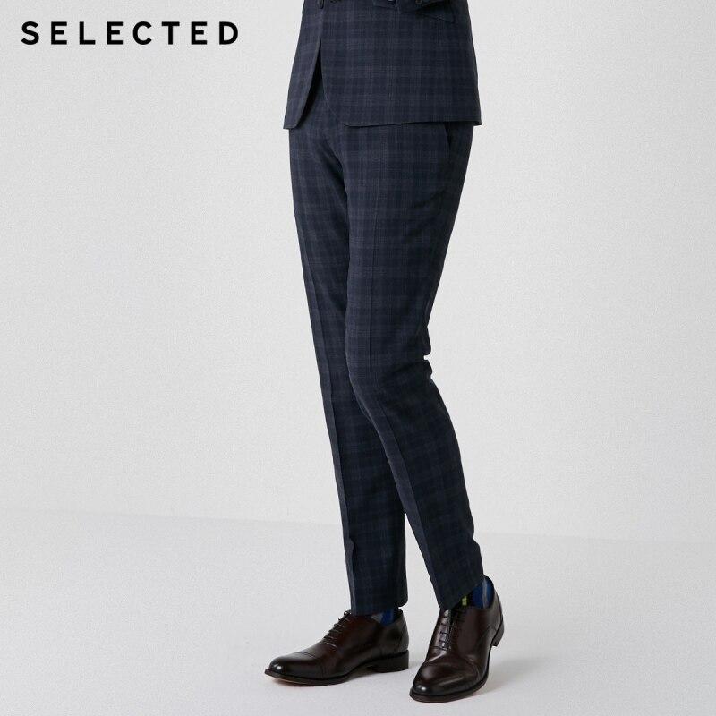 100% Wahr AusgewÄhlt Männer Dark Überprüfen Slim Fit Anzug Hosen T   41916a504 SorgfäLtige FäRbeprozesse
