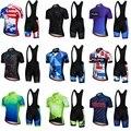 2018 Pro Team мужские комплекты Джерси для велоспорта с коротким рукавом Джерси шорты гелевая подкладка велосипедная одежда комплект одежды Maillot