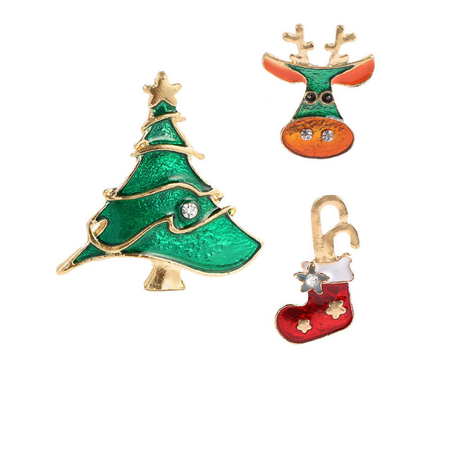 CINDY XIANG Cute Paint Christmas Set Brooches For Women Colorful Child Gift Dress  Coat Backpack Pins Accessories Party Jewelry 9b27ab04b51d