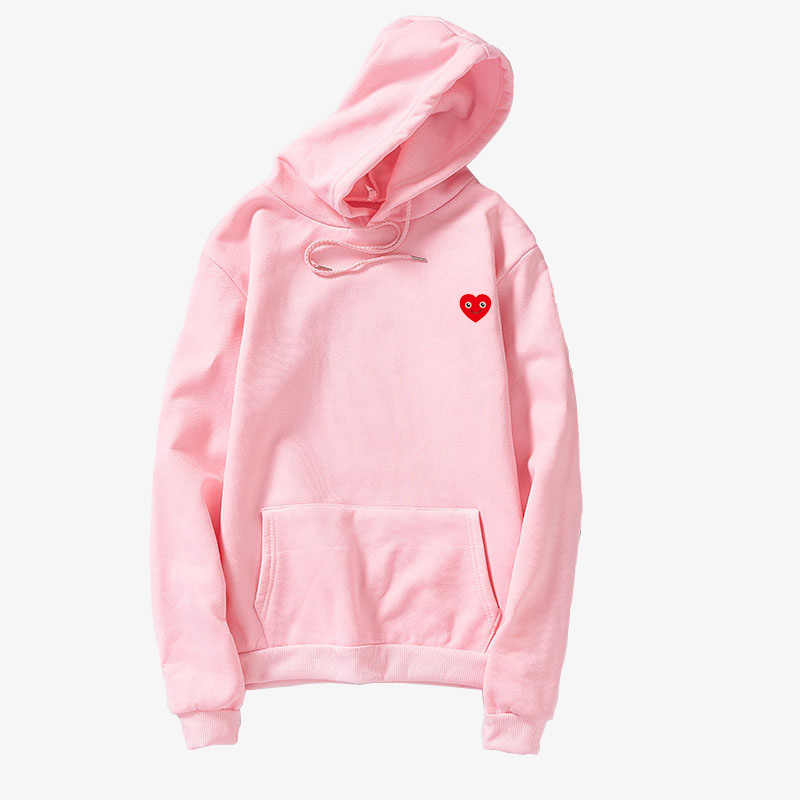 New Harajuku Oversized Hoodies Women Lovely Kawaii Smil Face Heart Print Hooded Casual Streetwear Loose Fleece Unisex Sweatshirt (3)