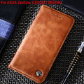 Case for ASUS ZenFone 3 ZOOM ZE553KL Luxury Leather Flip cover Cases with Stand Card Slot funda Without magnets Vintage style