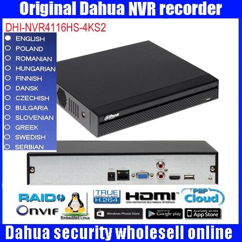 Dahua 16Ch NVR DHI-NVR4116HS-4KS2 Vidéo Enregistreur 4 K & H.265 Lite Réseau H.265/H.264 jusqu'à 8MP sortie simultanée NVR4116HS-4KS2