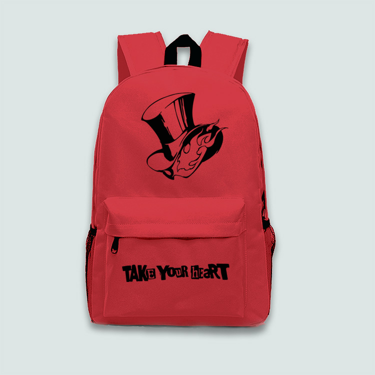 New <font><b>Persona</b></font> <font><b>5</b></font> Cosplay <font><b>Backpack</b></font> TAKE YOUR HEART Cartoon Bag Anime canvas Schoolbag image