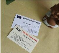 500 шт./лот специальная бумага цвета rwo сторон, изысканный печать визиток Бесплатная Дизайн АНФ БЕСПЛАТНАЯ ДОСТАВКА № 1003